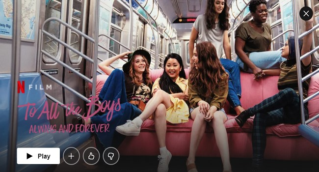 AUS Netflix - To All the Boys Always and Forever