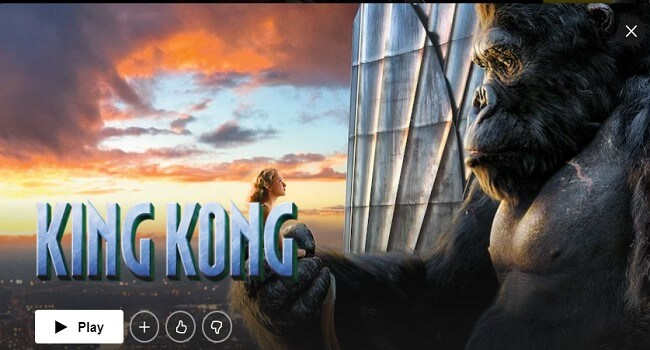 Best Action movie King Kong
